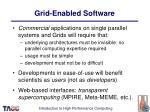 grid enabled software