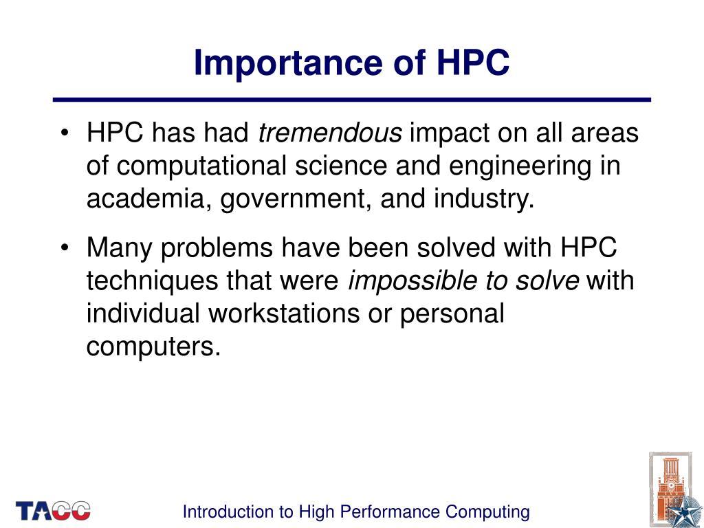 Importance of HPC