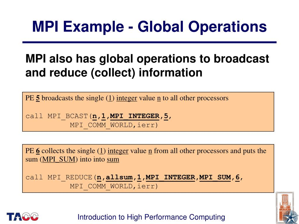MPI Example - Global Operations