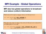 mpi example global operations