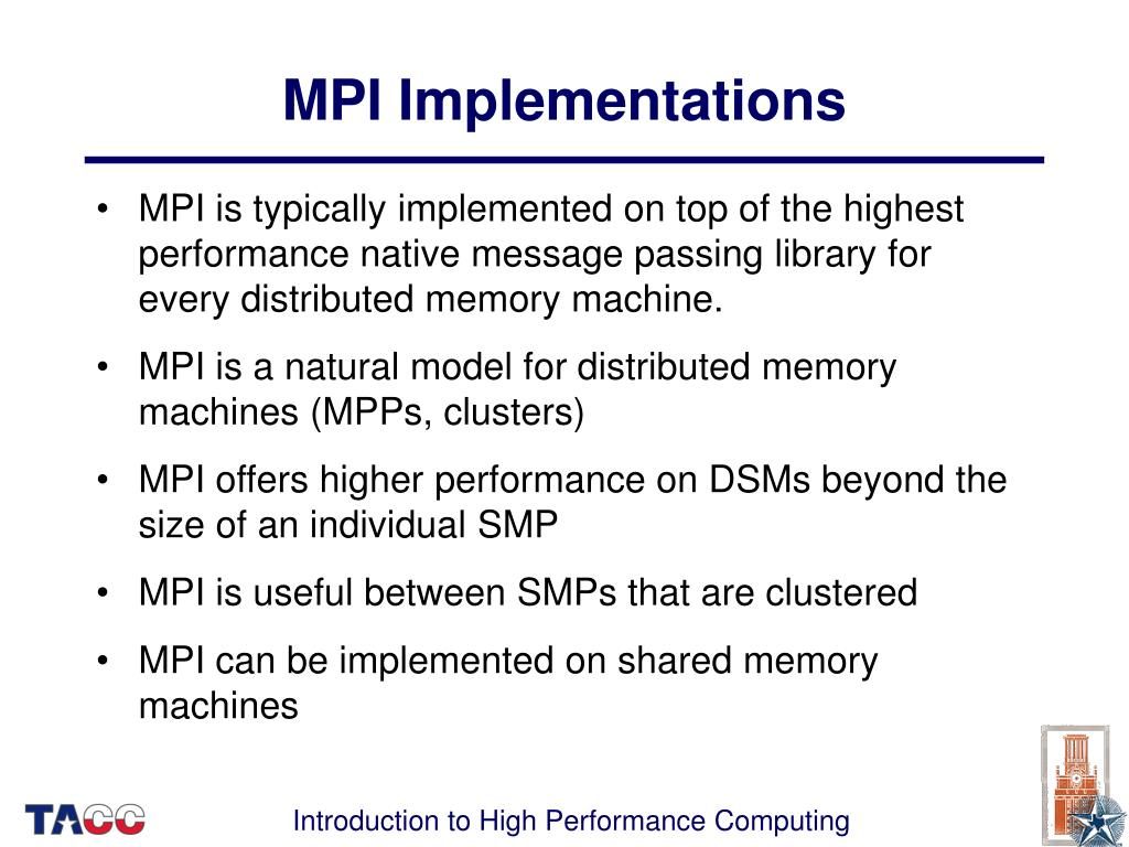 MPI Implementations