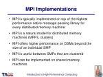 mpi implementations