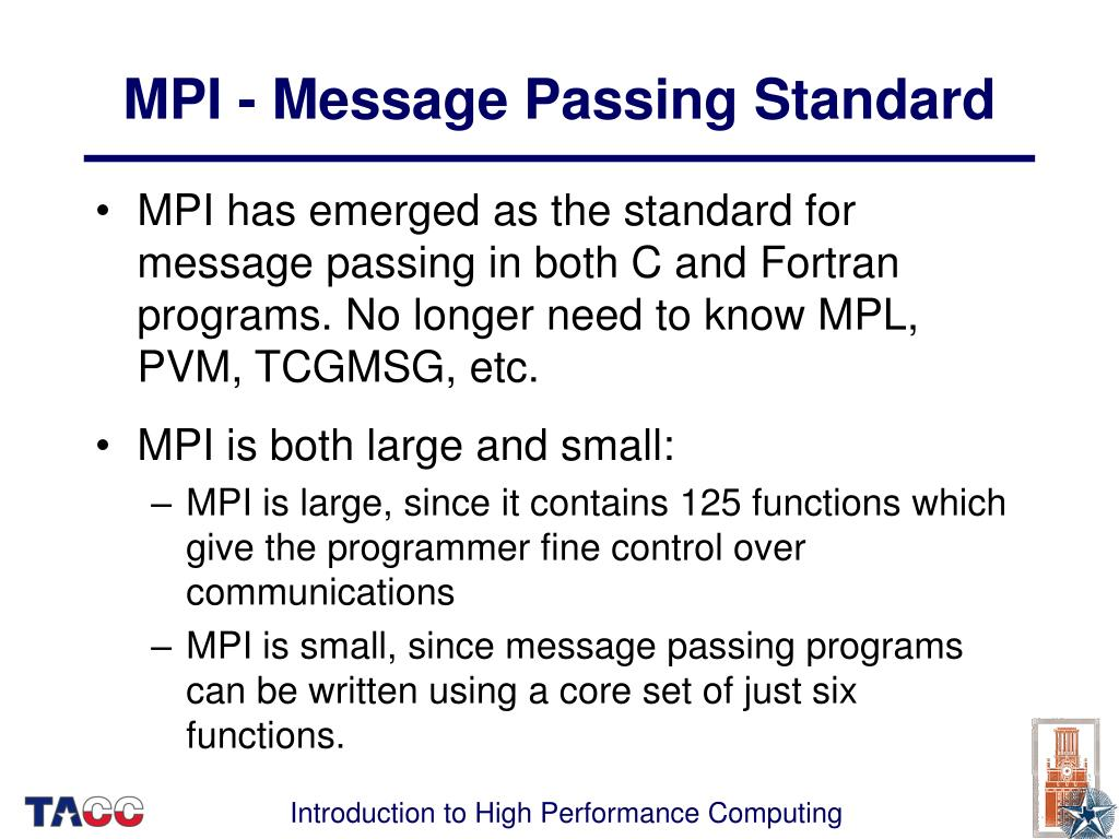 MPI - Message Passing Standard