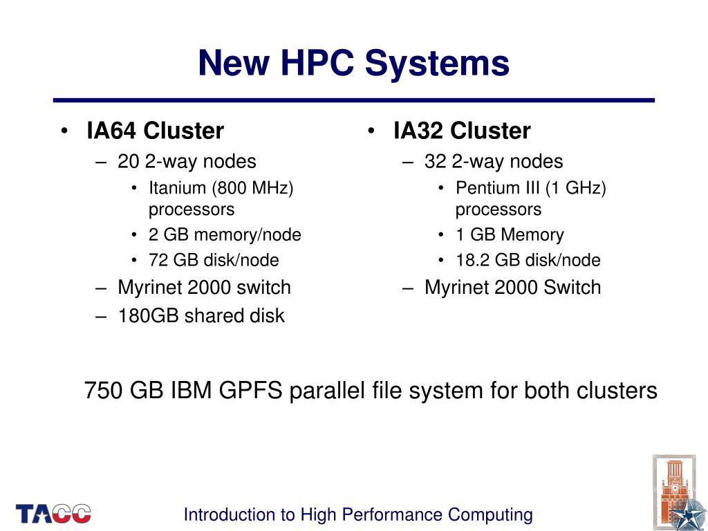 IA64 Cluster