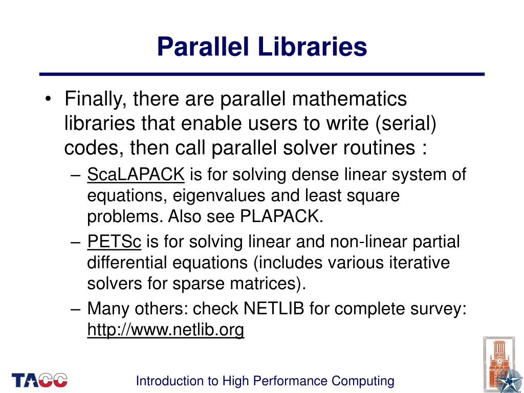 Parallel Libraries