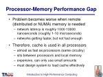 processor memory performance gap38