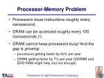 processor memory problem