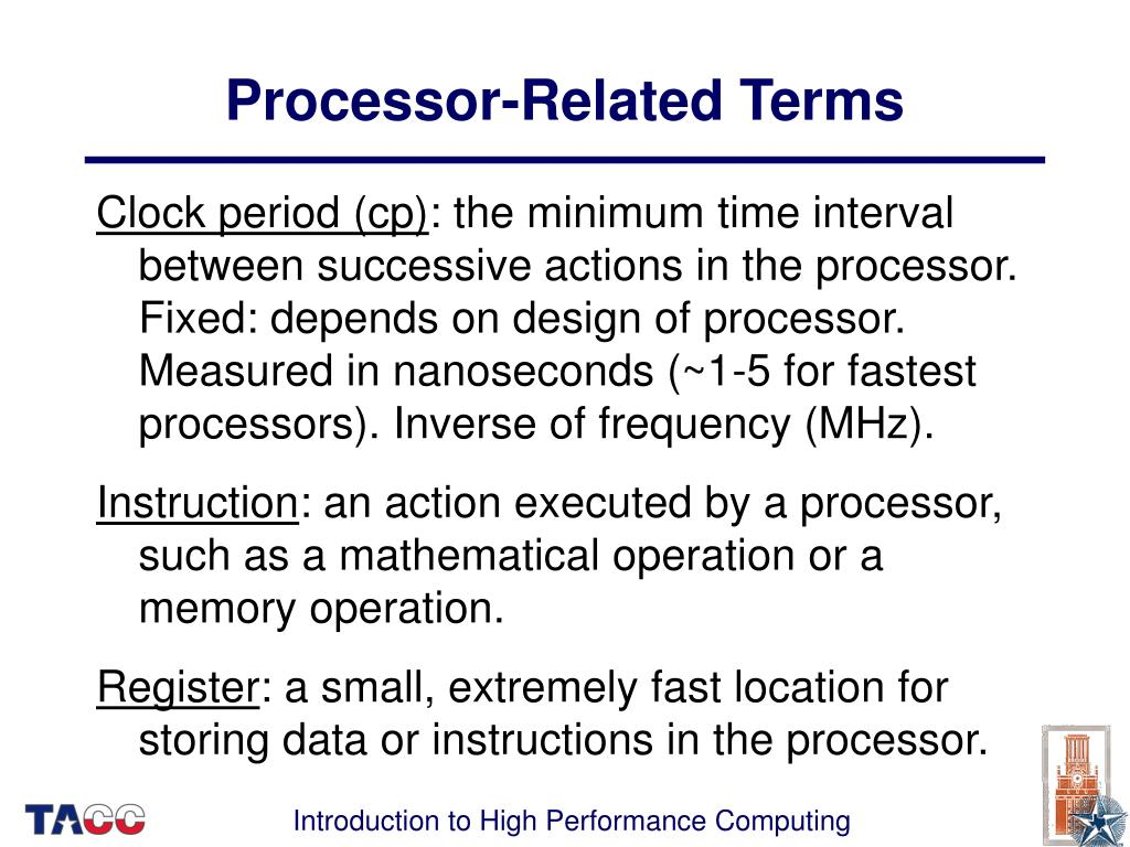 Processor-Related Terms