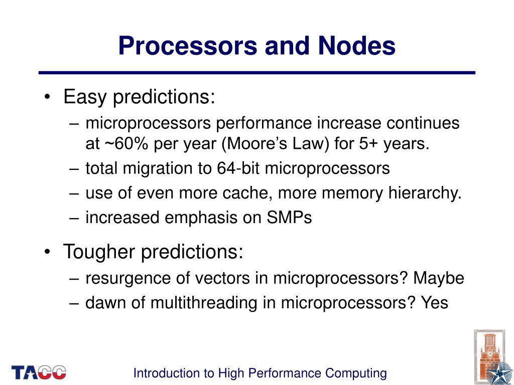 Processors and Nodes