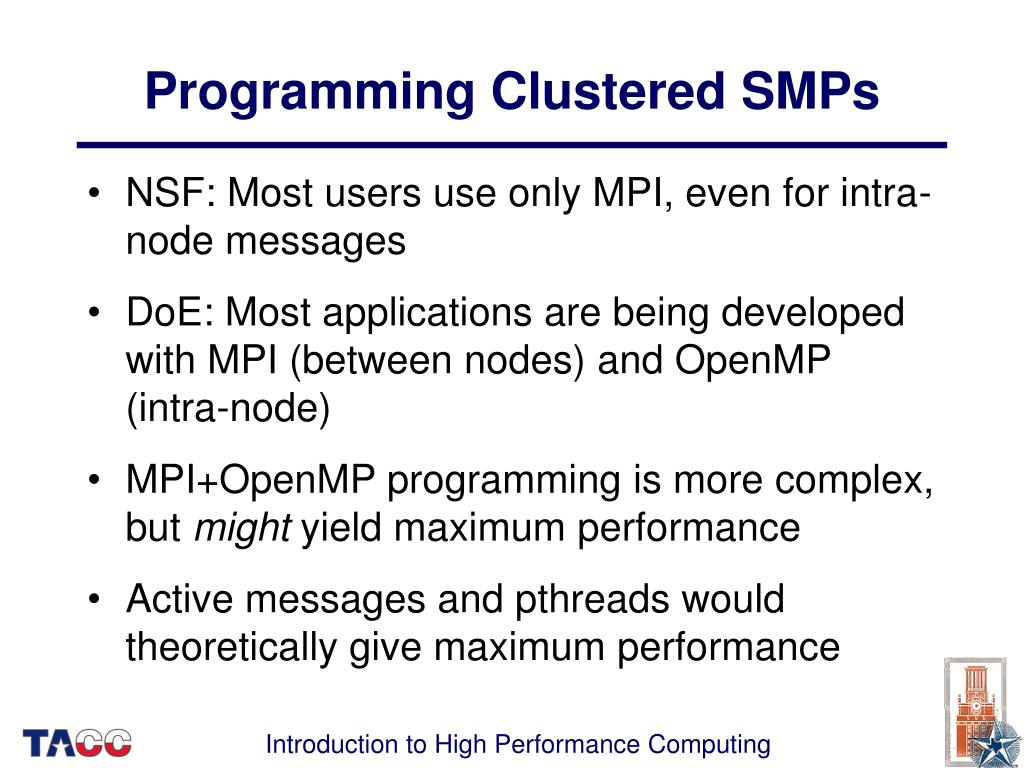 Programming Clustered SMPs