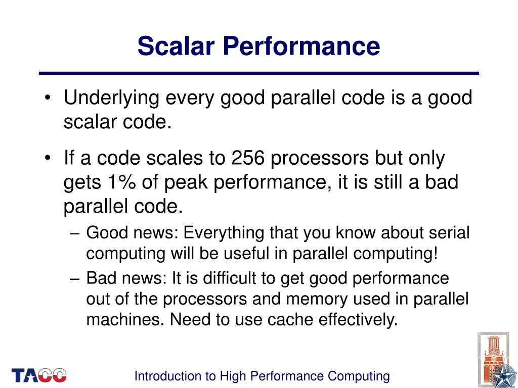 Scalar Performance