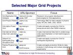 selected major grid projects126