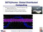 seti@home global distributed computing