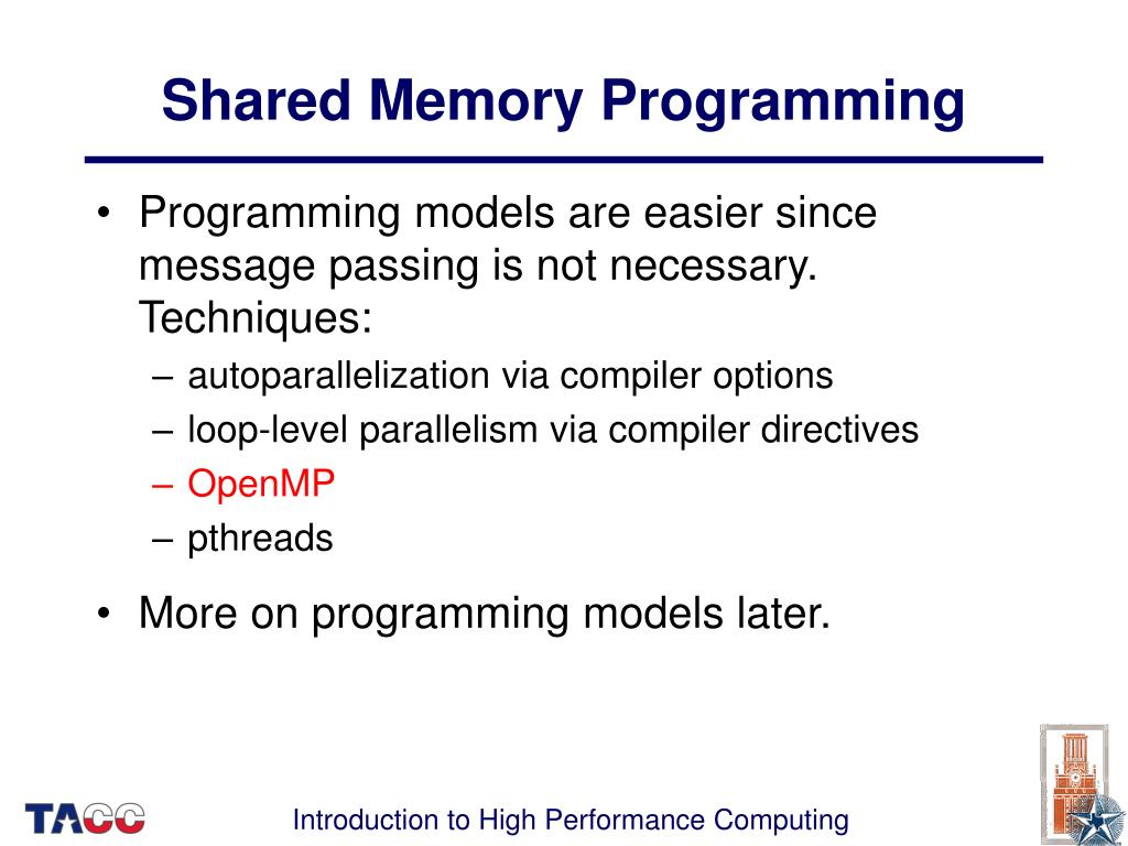 Shared Memory Programming