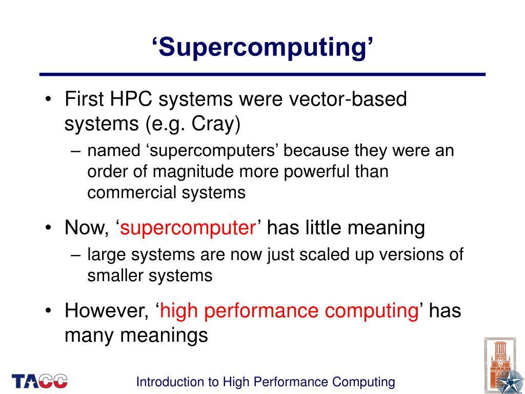 'Supercomputing'