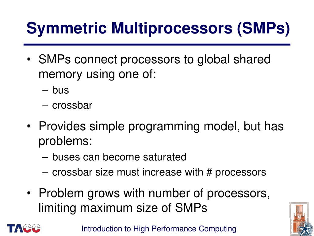 Symmetric Multiprocessors (SMPs)