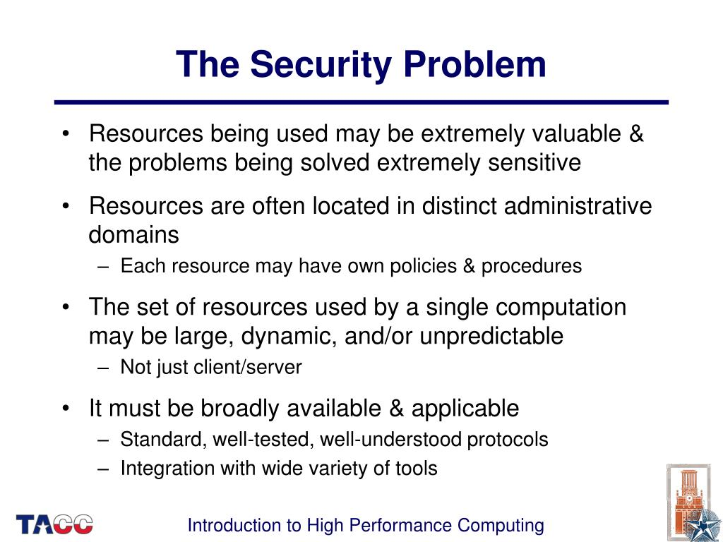 The Security Problem