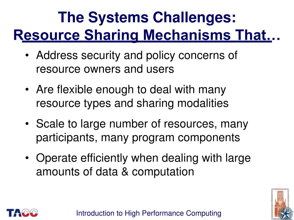 The Systems Challenges:
