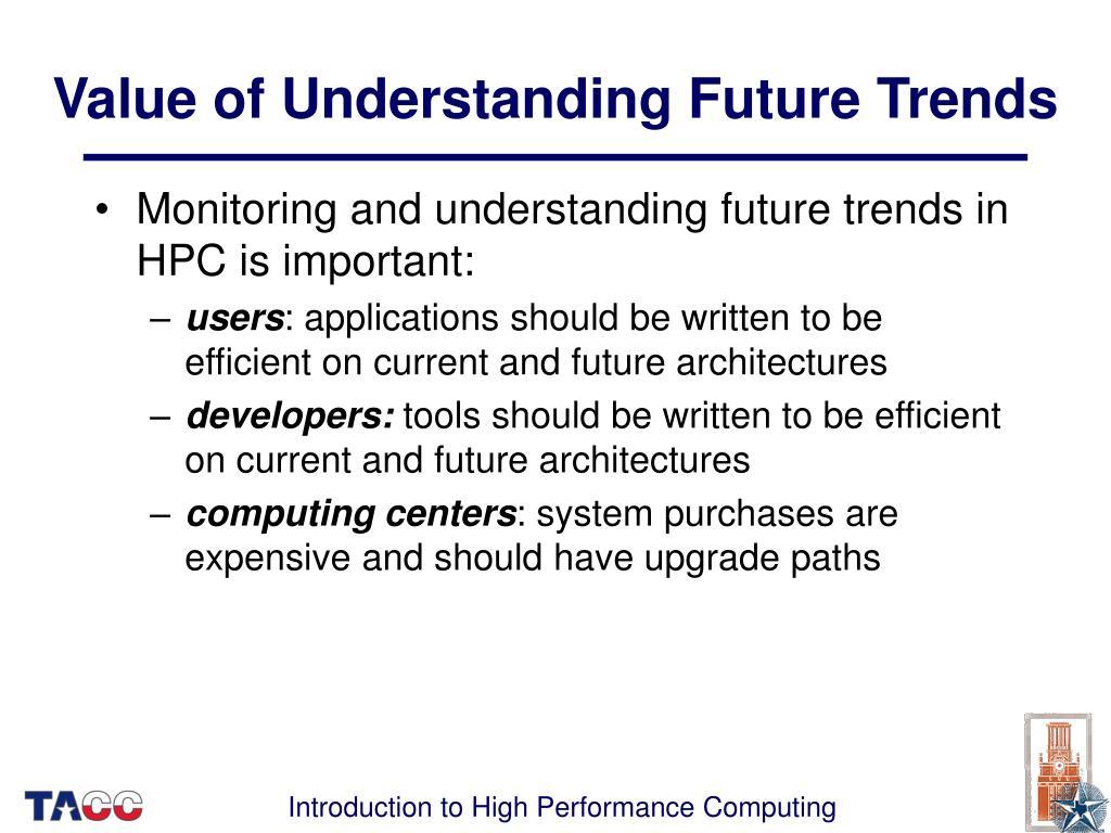Value of Understanding Future Trends
