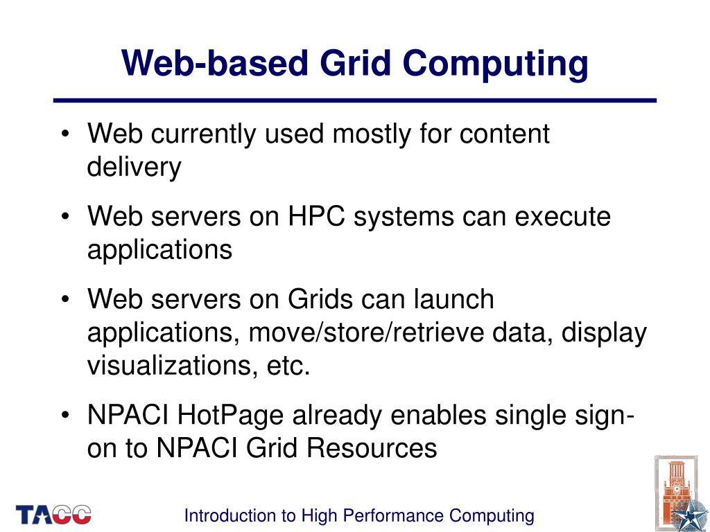 Web-based Grid Computing