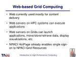 web based grid computing