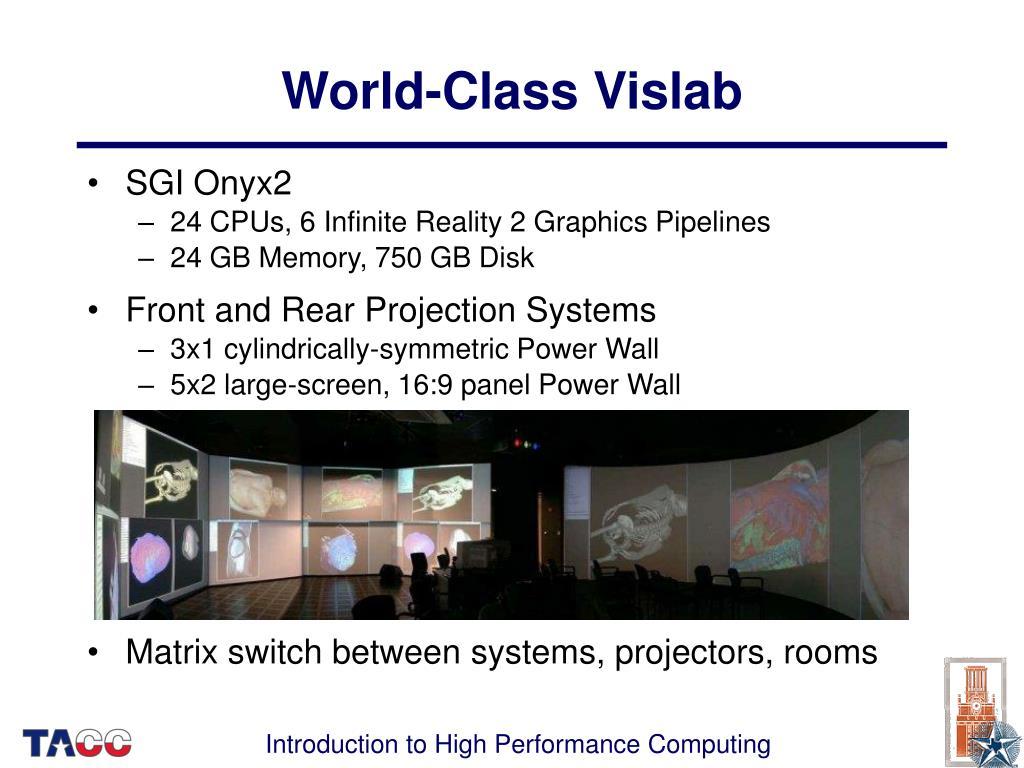 World-Class Vislab
