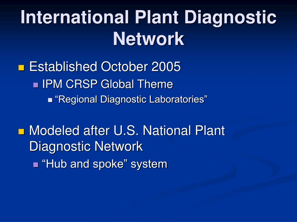 International Plant Diagnostic Network
