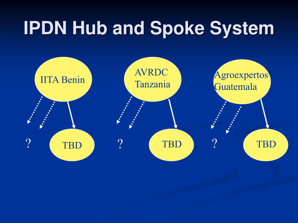 IPDN Hub and Spoke System