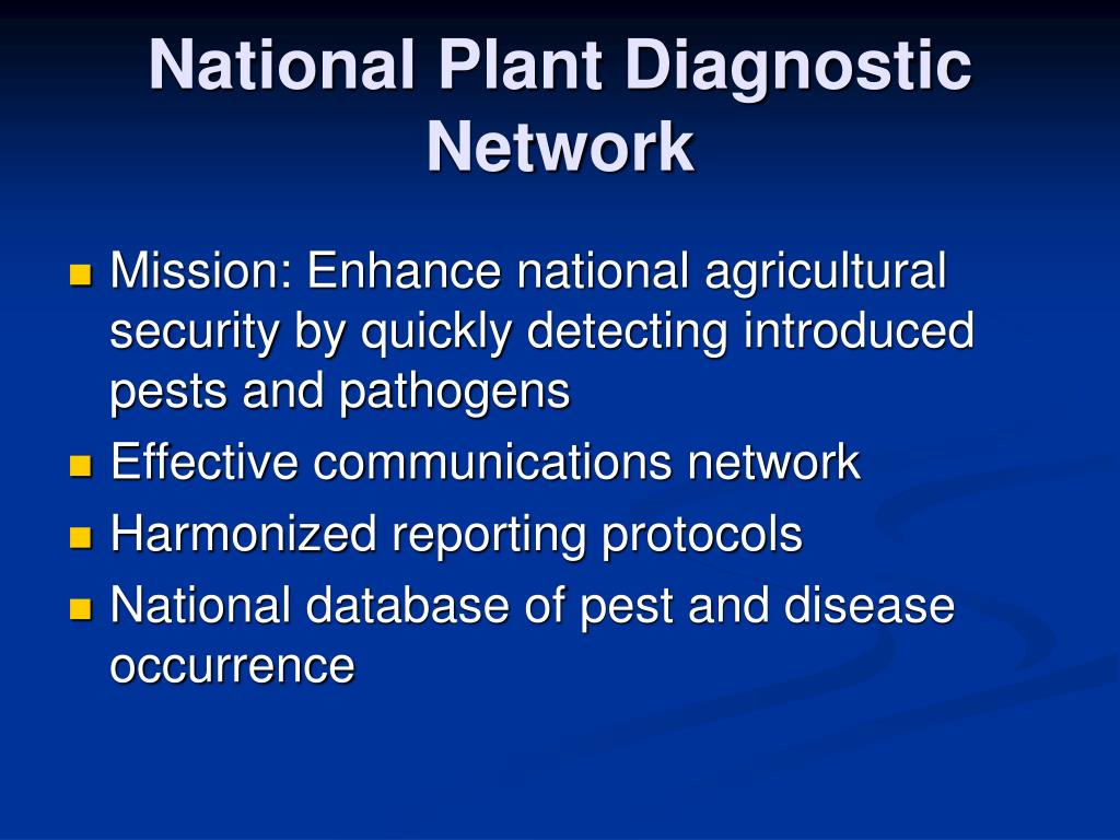 National Plant Diagnostic Network