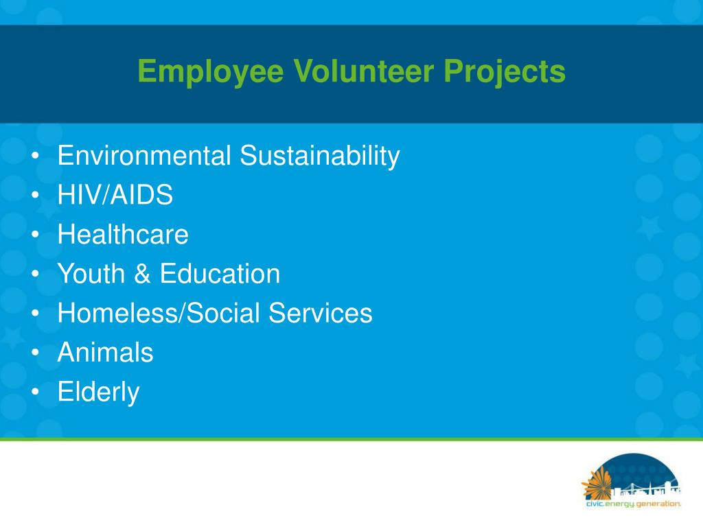 Employee Volunteer Projects