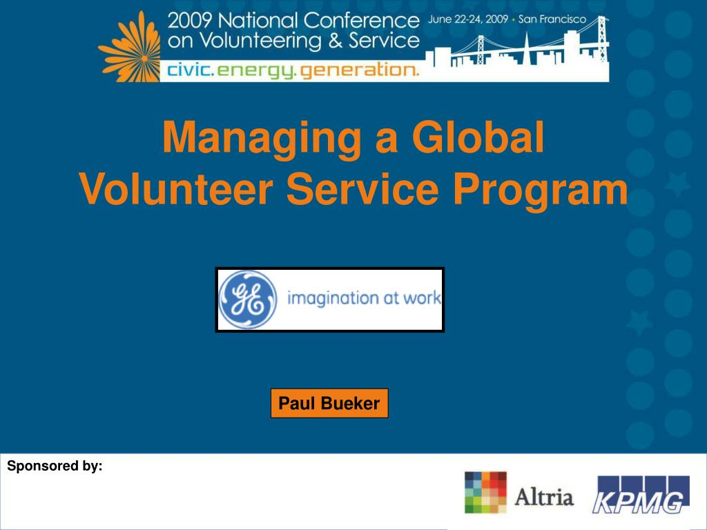 Managing a Global Volunteer Service Program