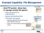 example capability file management