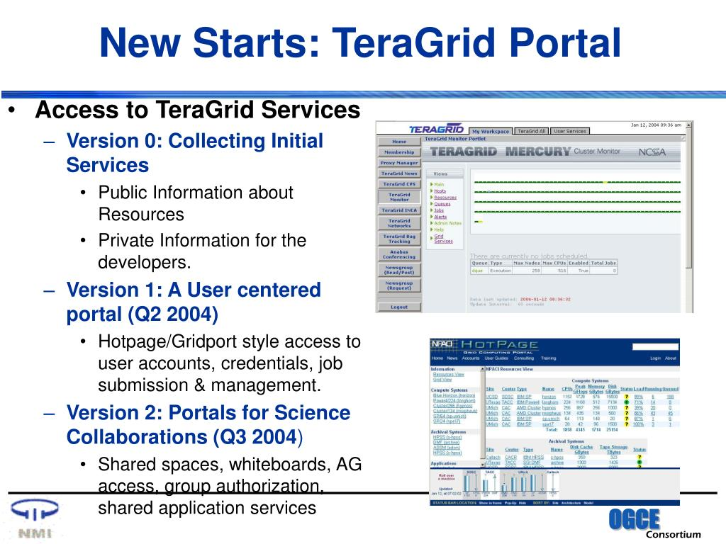 New Starts: TeraGrid Portal