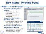 new starts teragrid portal
