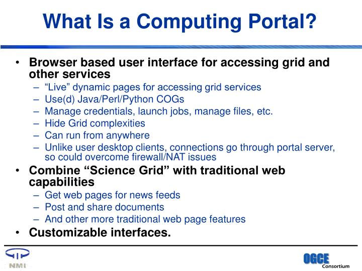 What is a computing portal