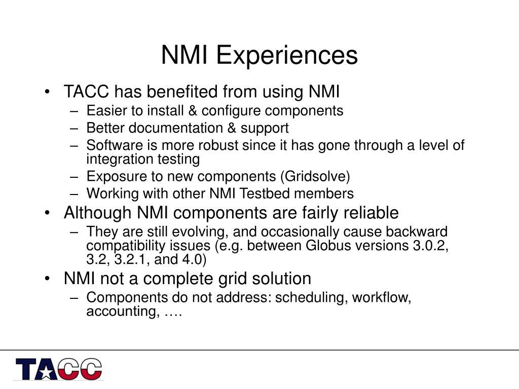 NMI Experiences