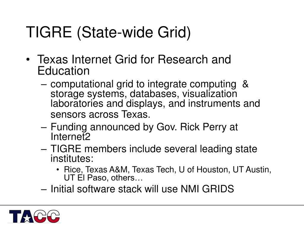 TIGRE (State-wide Grid)