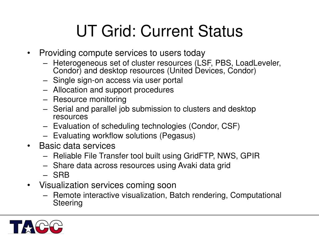 UT Grid: Current Status