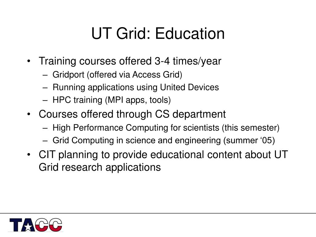 UT Grid: Education