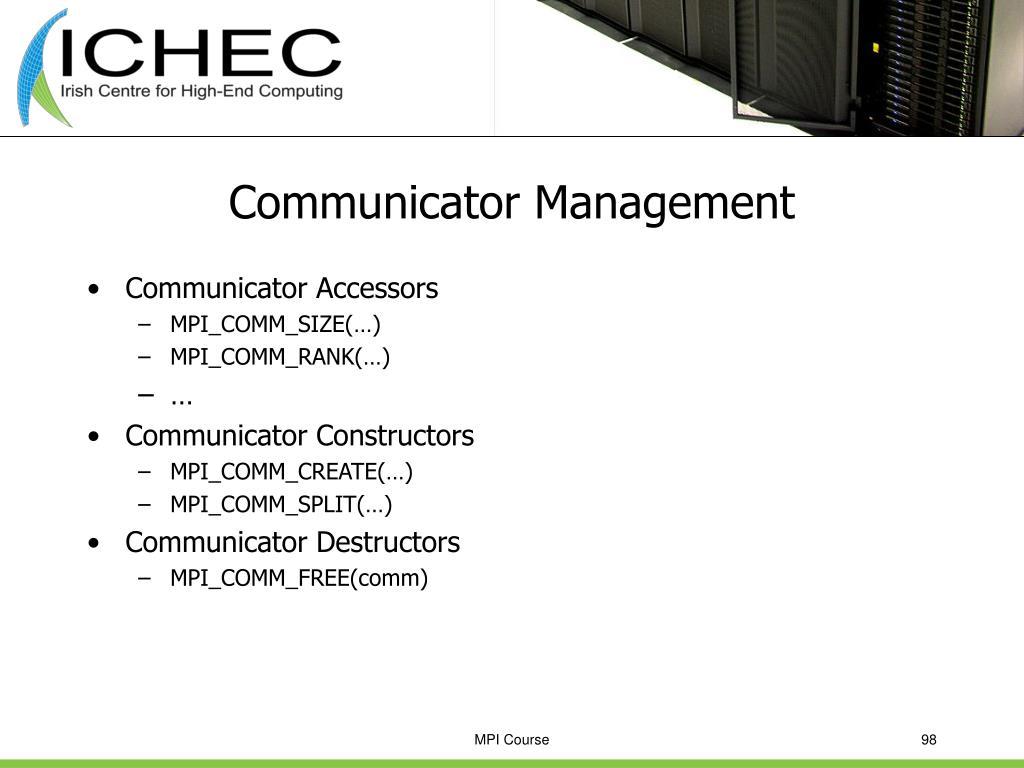 Communicator Management