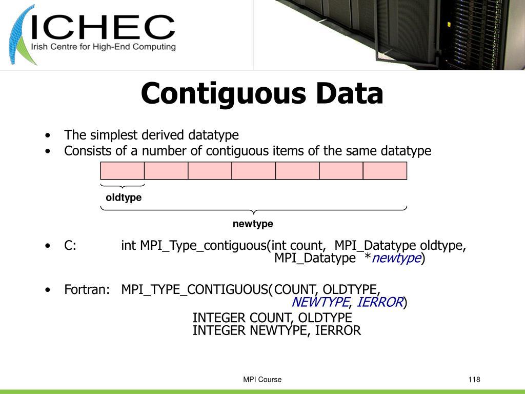 Contiguous Data