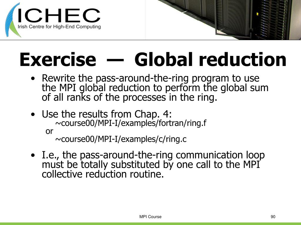 Exercise  —  Global reduction