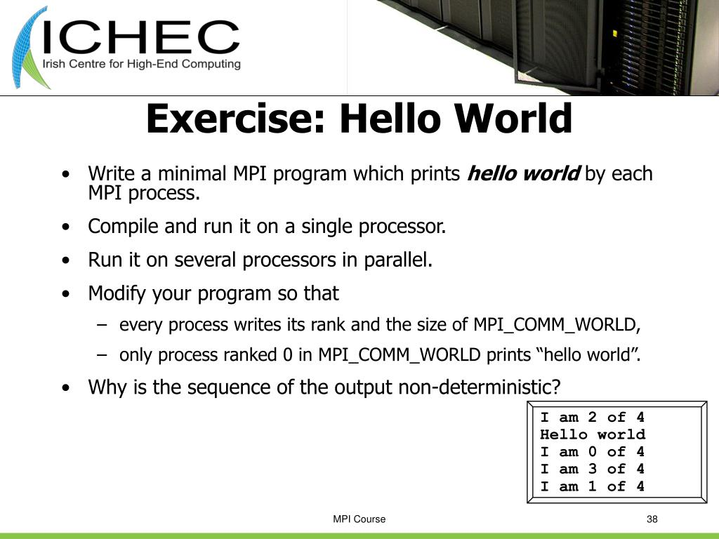 Exercise: Hello World