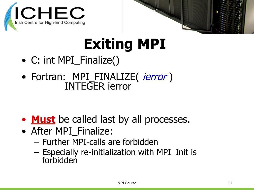 Exiting MPI