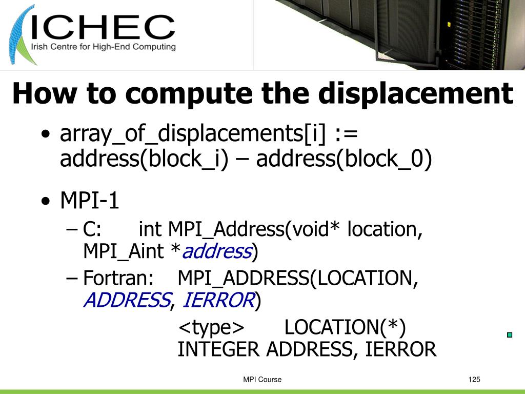 How to compute the displacement