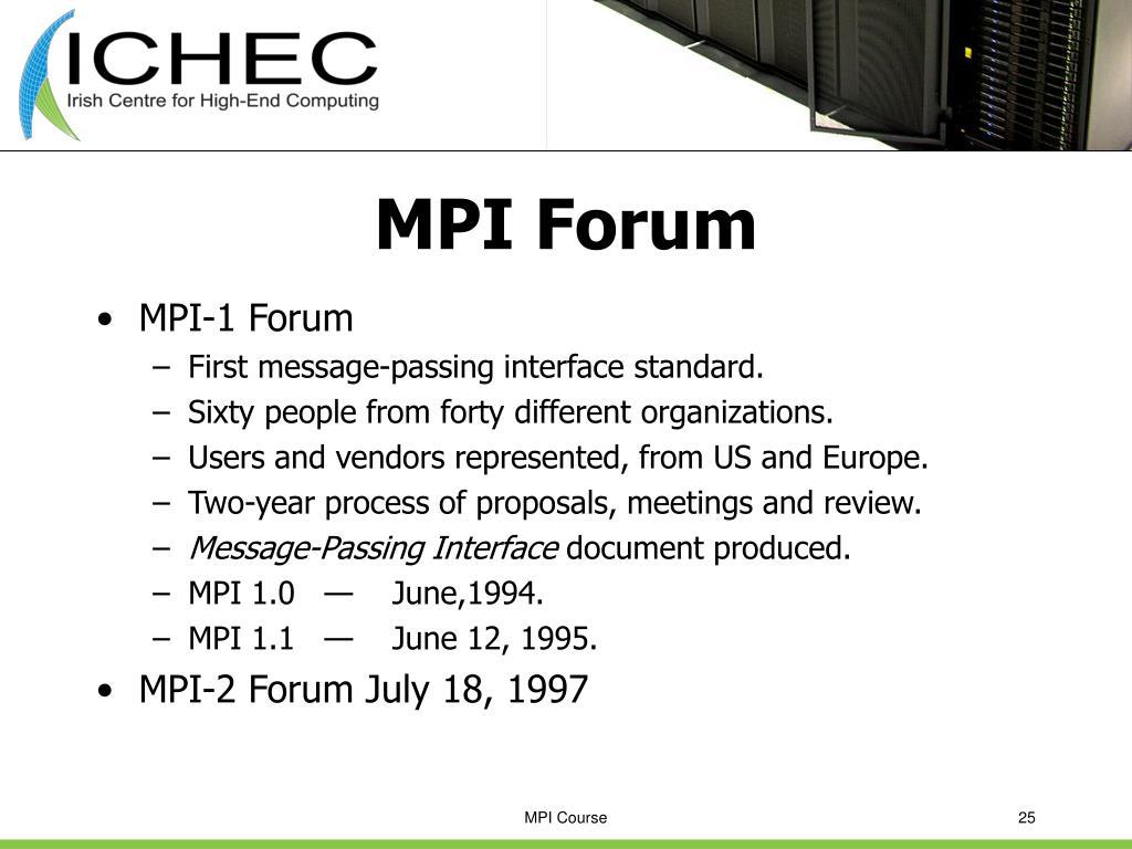 MPI Forum