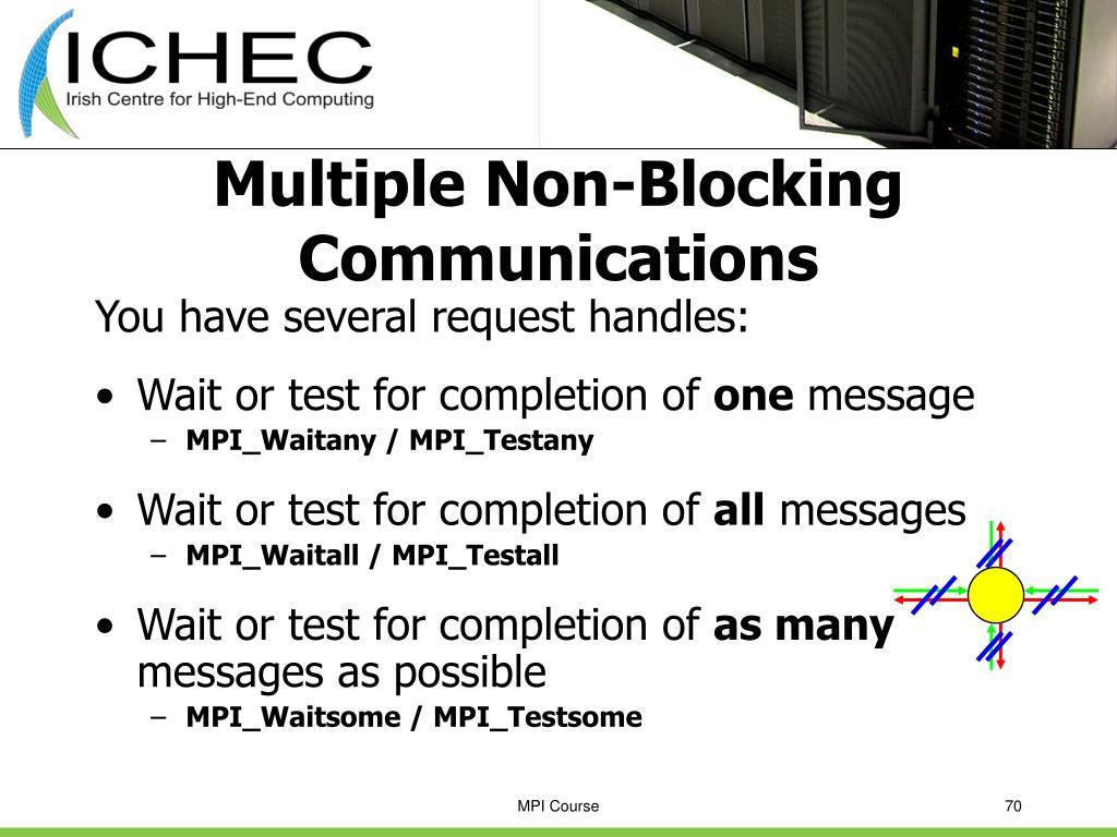 Multiple Non-Blocking Communications