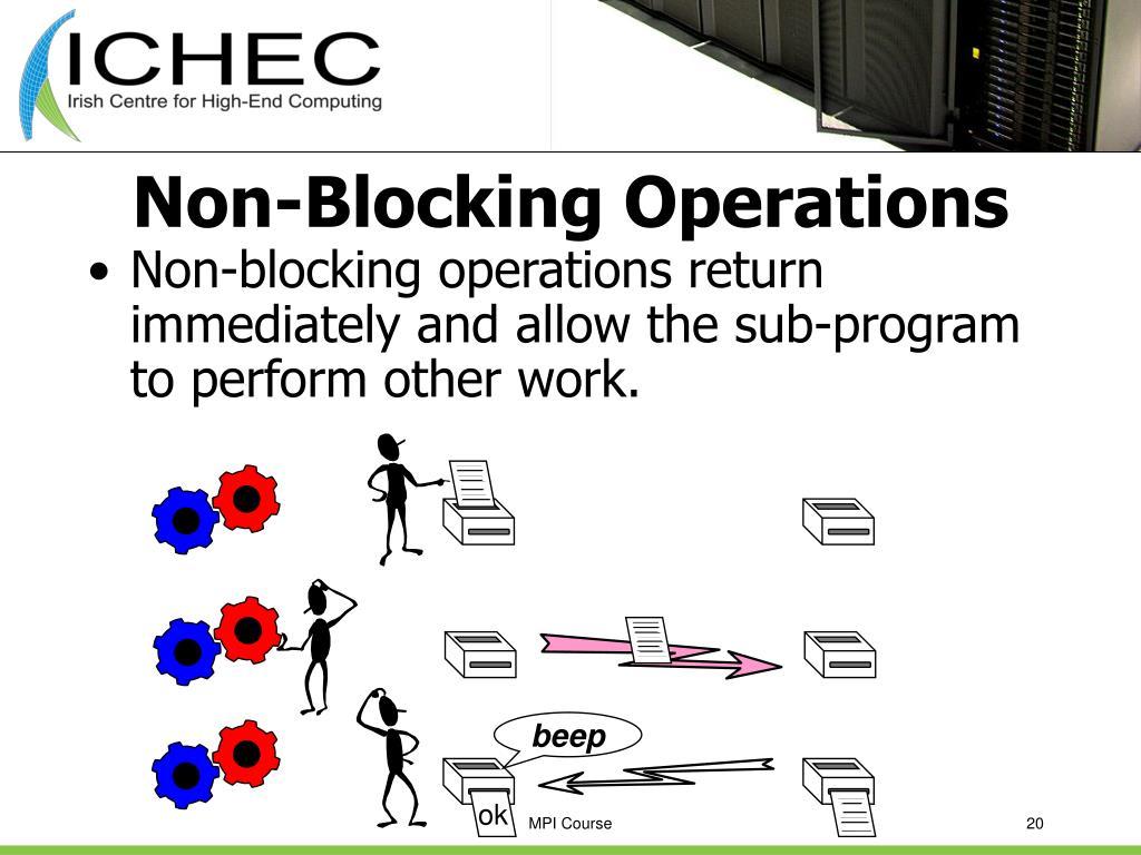 Non-Blocking Operations