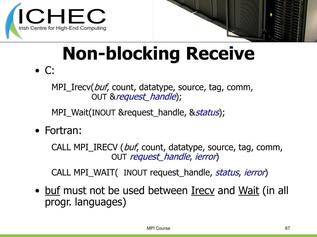 Non-blocking Receive