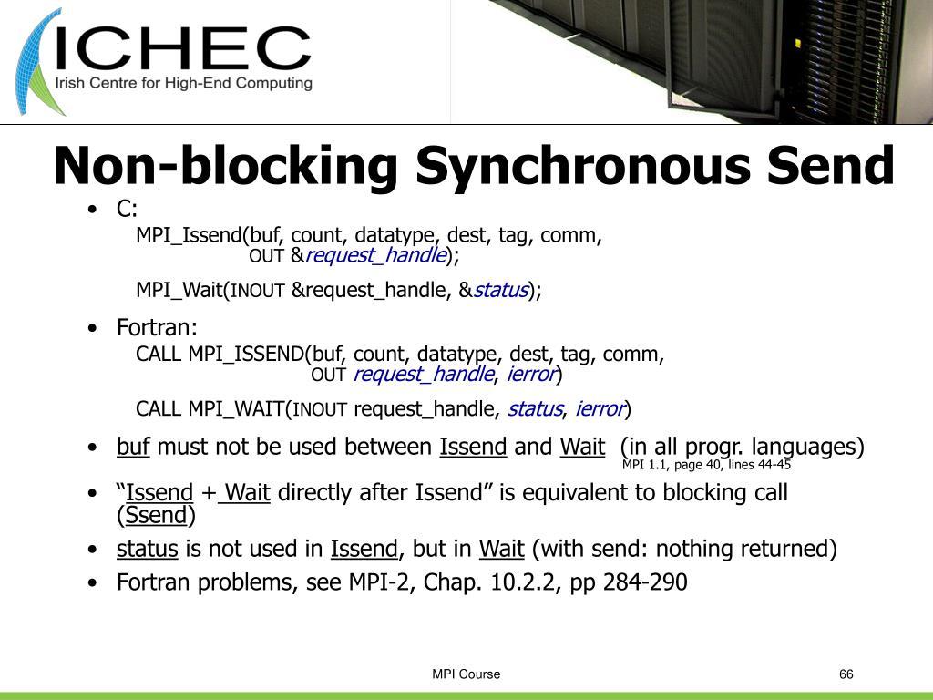 Non-blocking Synchronous Send